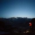 Indossando ramponi e picozza per l'ascensione finale del gran paradiso 4061 mt