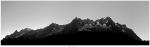 Panoramica dal Monte Bianco a sinistra fino alle Grandes Jorasses a destra
